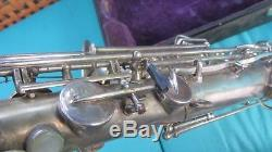 1921 Martin Low Pitch Tenor Saxophone Elkhart Indiana with Case for restoration
