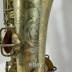 1924 CG Conn New Wonder 1 Tenor Saxophone Gold Plated Engraved 134XXX withCase