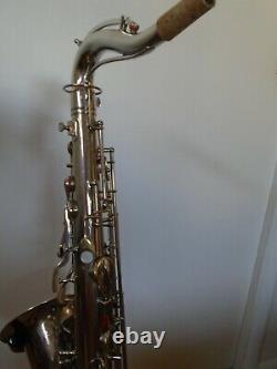 1925 Nickel-Plated Conn Tenor Saxophone