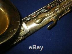 1931 CONN TRANSITIONAL Bb TENOR SAXOPHONE + GATOR CASE CHU BERRY to 10M TRANNY