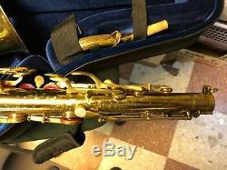 1951 Buescher 400 Top Hat and Cane tenor sax w / Berg Larsen & new case