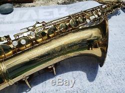 1952 Conn 10M Naked Lady Tenor Saxophone ORIGINAL CASE VERY NICE