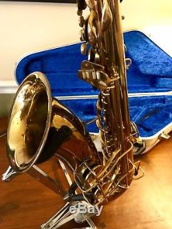 1953 CONN 10M Tenor Saxophone Overhauled With Hiscox Case A+++