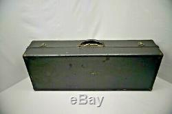 ANTIQUE c. 1911 Vintage FRANK HOLTON Tenor saxophone Case Mouthpiece+EXTRA 13972