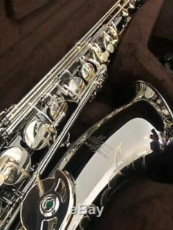 Allora ATS-450 Vienna Series Tenor Saxophone Step Up Black Nickel with Case Mpc