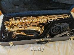 Antigua tenor saxophone, brass, used but in good condition