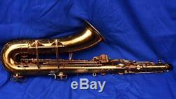 Beautiful Vintage Buescher Big B Tenor Saxophone withCase Just Reconditioned