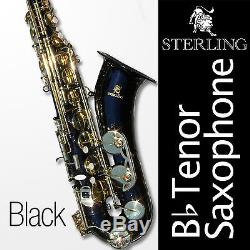 Black Tenor Sax Brand New STERLING Bb Saxophone With Case and Accessories