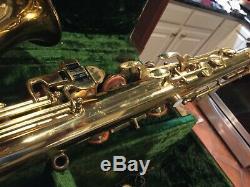 Buescher Selmer vintage silvertone tenor saxophone with case nice shape
