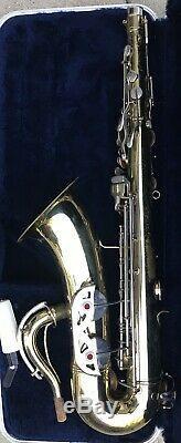 CONN 16M USA SHOOTING STAR TENOR SAXOPHONE 1966 H Serial # withConn Case & MP