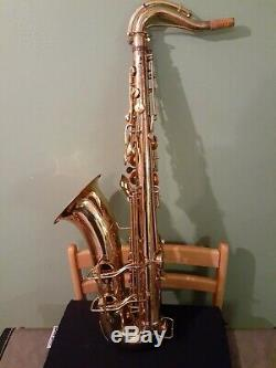 C. G. Conn 10m Naked Lady Tenor Saxophone With Original Case 1952
