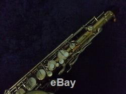 Classic Vintage! Buescher Aristocrat USA 200 Tenor Saxophone + Case