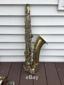 Conn 10M Naked Lady Tenor Saxophone Sax With Mouthpieces Hard Case Etc