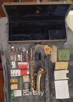 Conn 10M Tenor Saxophone Sax 1963 serial C63883 with case keys and accessories