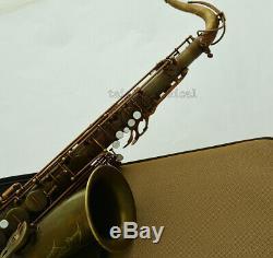 Customized Brown Antique Bronze Tenor Saxophone VI Style SAX BIG SOUND