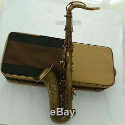 Customized Pro Brown Antique Tenor sax Saxophone VI Model With Case