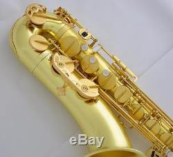 Customized Professional Raw Brass Tenor sax Saxophone Mark VI Model With Case