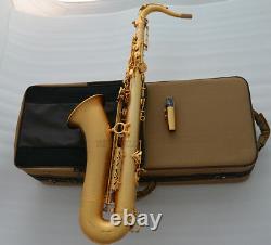Customized Satin Gold Plated Tenor Saxophone Luxury TaiShan Sax Bb Saxofon