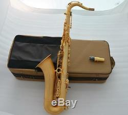 Customized Satin Gold Plated Tenor Saxophone TaiShan Brand Bb Sax New Case