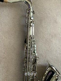DC PRO NICKEL PLATED TENOR SAX SERIES II with mouthpiece & case