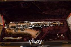 DeBernardi Verona Italy Italian Tenor Sax Saxophone VTG AS-IS FIX & Jupiter Case