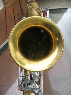 Dolnet Paris Royal Jazz Tenor Saxophone vintage 1955 with Orig Case NICE