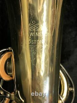 EM Winston Tenor Saxophone W Case In Used Condition. Sold As Is Has Wear As Seen