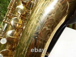 EYE POPPING 1933 Selmer Bundy Tenor Saxophone Highly Engraved Bell SWEET Horn