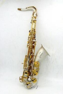 Eastern Music Pro satin silver plated tenor saxophone with gold keys and case