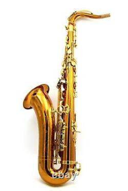 Eastern Music dark gold lacquer rose brass copper tenor saxophone R54 with case