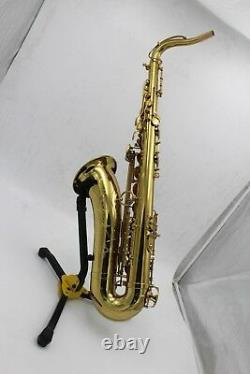 Eastern music champaign gold tenor saxophone Mark VI type no F# with flight case