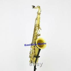 Eastern music original brass clear lacquered tenor saxophone Mark VI type withcase