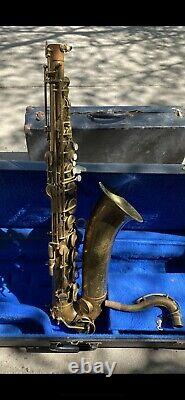 F E Olds and Sons Ambassador tenor sax made with saxophone case For Parts Only