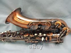 GORGEOUS! Rare Antiqua Tenor Sax Saxophone WithCopper Finish & Hard Case Pre-Owned
