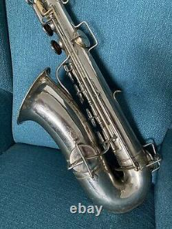 Georges Carcassonne historical and vintage french tenor saxophone after overhaul