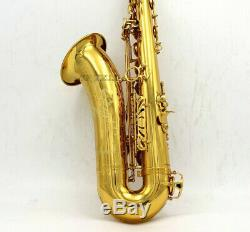 Gold Lacquer Bb Tenor Saxophone Professional Reference 54 Sax With Case