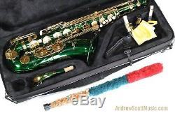 Green Tenor Saxophone in Case Masterpiece 12 Month Warranty
