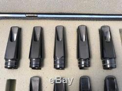 H Couf Saxophone 10 Mouthpiece Case Lot Alto, Tenor, Soprano Artist, Special