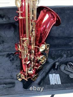Hawk Tenor Saxophone RED with Case