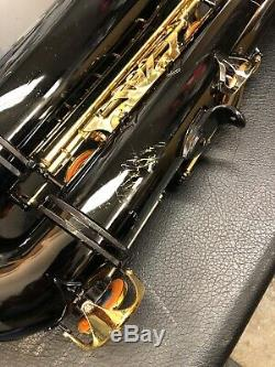 JUPITER Model JTS-78-787 Black Lacquer TENOR SAXOPHONE -Nice shape- with Case
