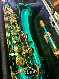 Jean Baptiste JB-480T Tenor Saxophone MINT CONDITION! GREEN! Beautiful case
