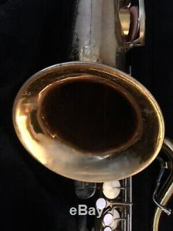 KING Super 20 Tenor Saxophone, Series V 1967-68 SN43XXXX, Selmer case