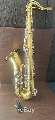 King 615 U. S. A. Saxophone tenor With Case/ Serial Number 879106 /AS-IS