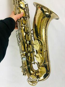 King Super 20 382xxx Tenor Sax withCase SOLID SILVER NECK! BLACK FRIDAY DEAL