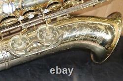 King Super 20 Cleveland Tenor Saxophone w case Sterling Neck 1960s