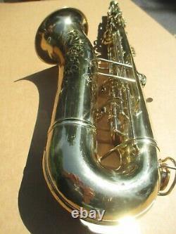 King Zephyr Tenor Saxophone Plays Very Well Circa 1937-38 Art Deco Engraving