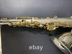 King Zephyr Tenor Saxophone Silver Plated Overhauled New Case