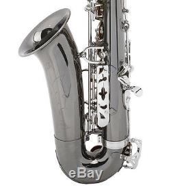 MENDINI BLACK NICKEL With NICKEL KEYS TENOR SAXOPHONE SAX With TUNER, CASE, CAREKIT