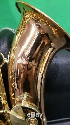 MENDINI BY CECILIO ROSE-BRASS TENOR SAXOPHONE WithGATOR HARD CASE (SS2030584)