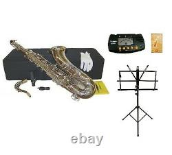 Merano BB Silver Tenor Saxophone, Case+11 Reeds+Tuner+StandStudent Intermediate